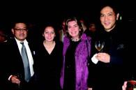 Walt Disney Studios' Kenji Nakamura, Daniele Cardenas, her mom Colombian Ambassador Patricia Cardenas, and actor Tetsuya Bessho
