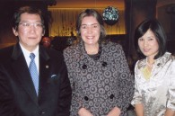 Sony Pictures' Dick Sano, Colombian Ambassador Patricia Cardenas, and Itsumi Sano