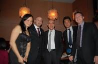 Weekender's Mary Rudow with H&R Group's William Titus, Hiroshi Ohnishi, Satoshi Fujiwara, and Steve Burson