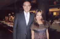 Hilton Tokyo GM Christian Baudat and Fox TV's Ako Koizumi