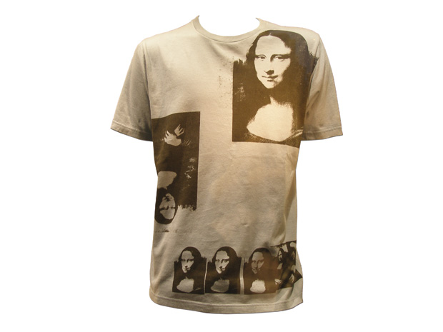 T-shirt with Mona Lisa