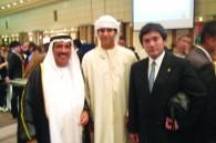 United Arab Emirates Ambassador Saeed Al-Nowais, his son Ali, and Ceremony president Tsukasa Shiga