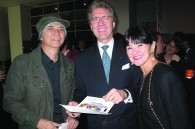 Hiroyuki Susuki, Mandarin Oriental GM Christian Hassing, and his wife April