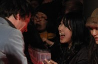 Matthieu Amalric gives an excited japanese fan his autograph