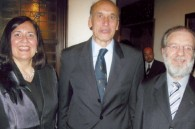 Norma Polski, outgoing Argentine minister Jorge Osella, and Argentine Ambassador Daniel Dziewezo Polski