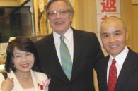 Diet member Yumiko Himei, South African Ambassador Gert Grobler, and photographer Shinichiro Sawano
