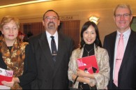 Czech Ambassador Jaromir Novotny, his wife Dana, Rina Okamura, and Latvian Ambassador Peteris Vaivars