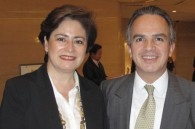 Mexican Ambassador Miguel Ruiz Cabanas and his wife Martha