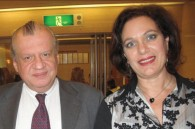 Greek Ambassador Nikolaos Tsamados and his wife Yasmine
