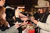 Johnny Depp greets fans in Tokyo