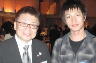 Actor Hide Kusakari and TV commentator Hiroshi Ikushima