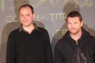 Director Louis Leterrier and Sam Worthington at Warner Brothers' Clash of the Titans press conference