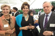 Dr. Anna Prinz of Germany, Mrinalini Singh of India, and Russian Ambassador Mikhail M. Bely