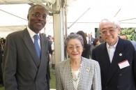 Senegalese Ambassador Gabriel Sar and Fumiki Totori