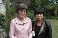 Pamela Warren and fashion designer Junko Koshino