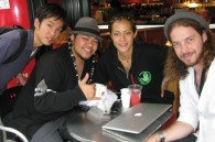 Photographer Nick Dale, TV talent Tina Bingham, Dee Jae Pa'este, and Peter Kobayashi