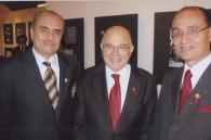 Palestinian Ambassador Waleede Siam, Egyptian Ambassador Walid Abdelnasser, and Bahraini Ambassador Khalil Hassan