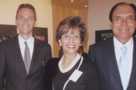 Darrell Jenks of the US embassy, Indian Ambassador Hemant Singh, and his wife Mrinalini