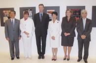 Politician Nobutaka Machimura, Fabiola Inui, Timothy Gellel, HIH Princess Takamado, Colombian Ambassador Patricia Cardenas, and Seiji Kojima