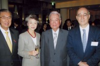 Philippine Ambassador Domingo Siazon, Mori Building's Minoru and Yoshiko Mori, and Croatian Ambassador Drago Stambuk