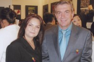 Albanian Ambassador Sid Ali Ketrandji and his wife Amal Nor