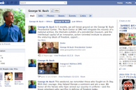 George Bush join Facebook