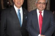 Vashdev Rupani and Bank of India Japan CEO Munir Alam