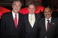 Juan Torres, Etihad CEO James Hogan, and Emirati Ambassador Saeed Al-Nowais
