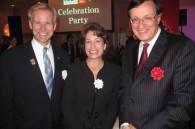 Coca-Cola Japan president Daniel H. Sayre, his wife Iliana, and British Ambassador David Warren