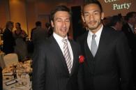 Rooibos Marketing president Clinton Gass and soccer legend Hidetoshi Nakata