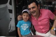 Audi's Donato Romaniello and his son Gaetano