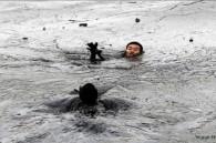 Pipeline burst in China creating oil spill