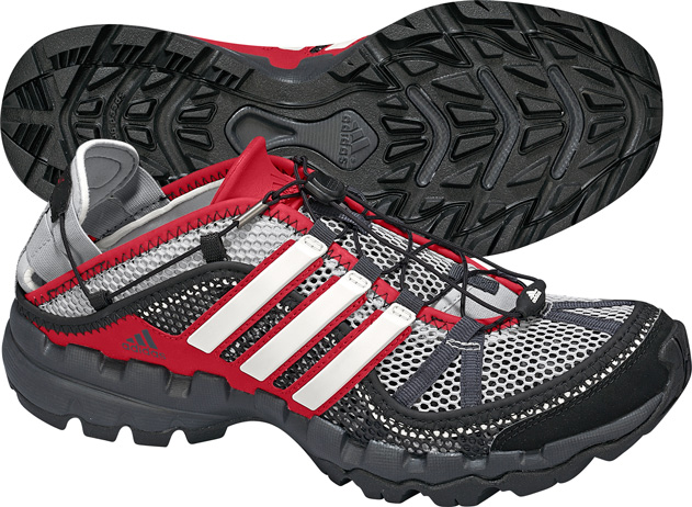 Rugged shoes for white water rafting