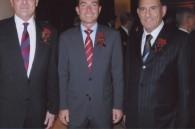 Christian Baudat, Hilton Worldwide area president Martin Rinck, and Hilton Worldwide VP for Japan, Korea and Micronesia Oded Lifschitz