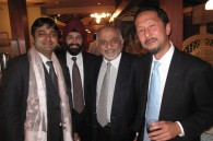 India tourism director in Singapore Rajesh Talwar, Rokko Saris, India tourism director of East Asia M. Sadana, and Takeshi Mizuno of Ashoka Tours