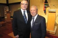 South African Ambassador Gert Grobler and Japanese saxophonist Sadao Watanabe