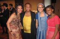 South African singer Prisca Molota, South African Minister Counsellor N. Malefane, and her daughters Naledi and Tumi