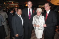 Atul Parekh, Outgoing Hilton Tokyo GM Christian Baudat, Lilo Maruyama, and Oakwood's Martin Fluck