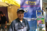 Thai Airways sales manager Iwao Kawabe at the Thai festival in Yoyogi Park