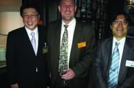 Oakwood's Eric Ishimaru, Asian Tigers' Nick Masse, and Global HR's Kosuke Ishikawa