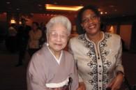 Politician Tenkoku Sonoda and Jamaican Ambassador Claudia Barnes