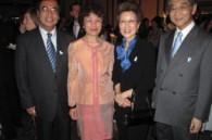 Vietnamese Ambassador Phu Binh Nguyen, his wife Le Thieu Ngan, and Hisanaga and Takako Shimazu