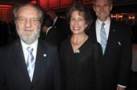 Outgoing Argentine Ambassador Daniel Dziewezo Polski, Coca-Cola Japan president Daniel H. Sayre, and his wife Ilaana