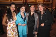 Brazilian dancer Romana Santos, Martha Ruiz Cabanas, Norma Polski, and Colombian Ambassador Patricia Cardenas