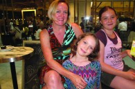 Writer Catherine Gough and her daughters Alexandra and Francesca