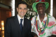 Ritz Carlton GM Francois J. Cnockaert and noted cookie maker Wally Amos