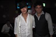 Jin Akanishi and film director M. Night Shyamalan