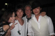 Cripps, Paramount's Peter Petersson, and Mr. and Mrs. Atinhay Bill Hersey with Japanese celebrities Leo and Jin Akanishi