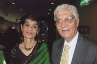 Professor Aftab Seth and his wife Pola