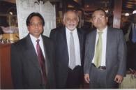 India tourism's P.K. Chaudhary, M. Sadana, and Tsutomu Sato